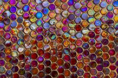 Modern glass mosaic tiles background Stock Images