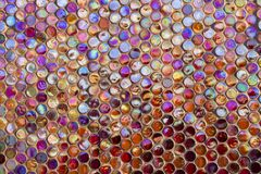 Modern glass mosaic tiles background Royalty Free Stock Photography