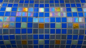 Modern glass mosaic tiles background Stock Photography