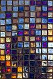 Modern glass mosaic tiles background Royalty Free Stock Photo