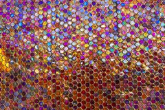 Modern glass mosaic tiles background Royalty Free Stock Image