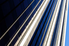 Modern glass office building reflection Stock Image