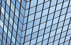 Modern glass office building reflection. Background pattern from a modern glass office building reflection Royalty Free Stock Image