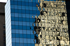 Modern glass office building reflection Stock Photography