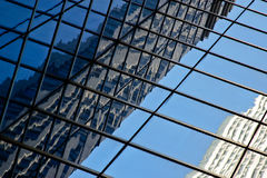 Modern glass office building reflection. Background pattern from a modern glass office building reflection Royalty Free Stock Photography