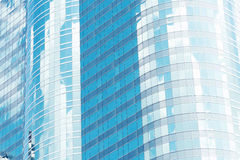 Modern glass office building texture close up for abstract backg. Round Royalty Free Stock Image