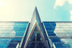 Modern glass office building texture close up for abstract backg. Round Stock Images