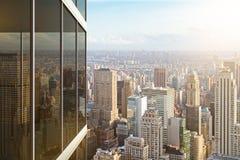 Modern glass office building Stock Photos