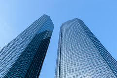 Modern glass office buildings Royalty Free Stock Images