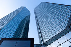 Modern glass office buildings Royalty Free Stock Photos