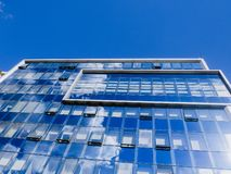 Modern glass office business building stock photo