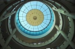 Modern glass roof of building Stock Photo