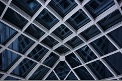 Modern glass roof at night Royalty Free Stock Photography