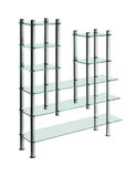Modern glass shelf isolated Stock Image