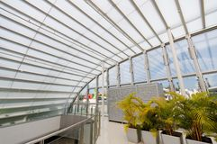 Modern glass shelter Stock Images