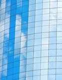Modern glass skycrapers background with sky and clouds Royalty Free Stock Photography