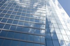 Modern glass skyscraper Stock Photos