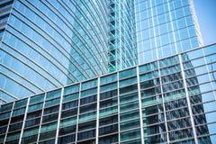Modern glass skyscraper closeup Stock Photo