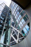 Modern glass skyscraper perspective view Stock Photography