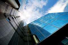 Modern glass skyscrapers Stock Images