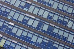 Modern glass skyscrapers detail Royalty Free Stock Images