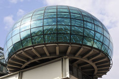 Modern glass sphere over the roof Royalty Free Stock Image