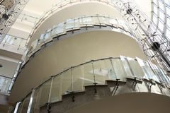 Modern glass spiral staircase Royalty Free Stock Photos