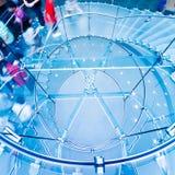 Modern Glass Staircase Stock Photos
