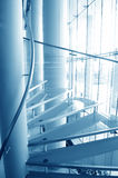 Modern glass stairs Stock Photo