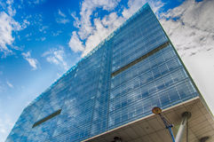 Modern Glass and Steel Apartment Building Stock Images