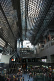 Modern glass and steel architecture of Kyoto train Station Stock Photo