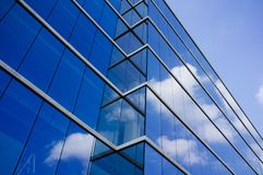 Modern glass and steel building. Background stock photo