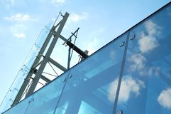 Modern glass and steel construction Stock Photography