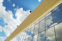 Modern glass and steel construction Royalty Free Stock Photos