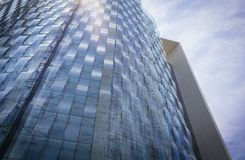 Modern glass and steel office building. Modern glass and steel office finance building stock photo