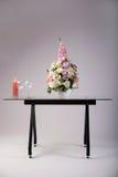 Modern glass table studio shot on white background Stock Images