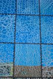Modern glass-tiles in blue Royalty Free Stock Photo