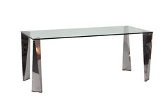 Modern glass top dining table. A edged out shot of modern glass top dining table with white background Stock Images