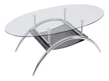 Modern glass top dining table Royalty Free Stock Photography