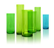 Modern glass vases Stock Photo