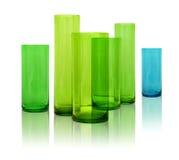 Modern glass vases stock photo