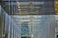 Modern glass walk way Royalty Free Stock Photos