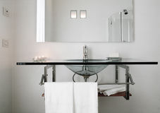 Modern glass washbasin Stock Image
