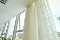 Modern glass window royalty free stock photos