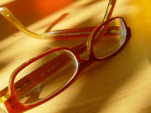 Modern glasses. Glasses on wood with natural light Stock Photo