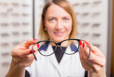 Modern glasses for better vision Stock Images