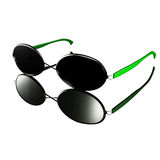 Modern glasses design - Green style. For adv or others purpose use Stock Images