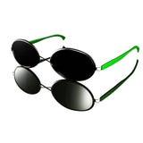 Modern glasses design - Green style Stock Images