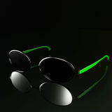 Modern glasses design - Green style Royalty Free Stock Images