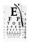 Modern glasses with eyechart Stock Images